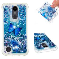 Flower Butterfly Dynamic Liquid Glitter Sand Quicksand Star TPU Case for LG Aristo 2