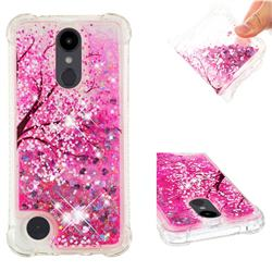 Pink Cherry Blossom Dynamic Liquid Glitter Sand Quicksand Star TPU Case for LG Aristo 2