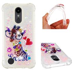 Sweet Deer Dynamic Liquid Glitter Sand Quicksand Star TPU Case for LG Aristo 2