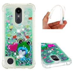 Heart Frog Lion Dynamic Liquid Glitter Sand Quicksand Star TPU Case for LG Aristo 2