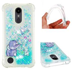 Bubble Jumbo Rabbit Dynamic Liquid Glitter Sand Quicksand Star TPU Case for LG Aristo 2