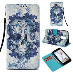 Cloud Kito 3D Painted Leather Wallet Case for LG Aristo 2