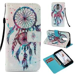 ColorDrops Wind Chimes 3D Painted Leather Wallet Case for LG Aristo 2