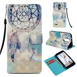 Fantasy Campanula 3D Painted Leather Wallet Case for LG Aristo 2