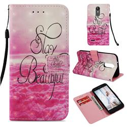 Beautiful 3D Painted Leather Wallet Case for LG Aristo 2