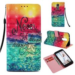 Colorful Dream Catcher 3D Painted Leather Wallet Case for LG Aristo 2