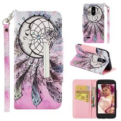 Angel Monternet Big Metal Buckle PU Leather Wallet Phone Case for LG Aristo 2
