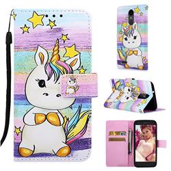 Spiral Pony Matte Leather Wallet Phone Case for LG Aristo 2