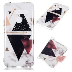 Four Triangular Soft TPU Marble Pattern Phone Case for LG G8 ThinQ (LG G8s ThinQ)