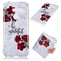 Rose Soft TPU Marble Pattern Phone Case for LG G8 ThinQ (LG G8s ThinQ)