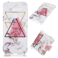 Inverted Triangle Powder Soft TPU Marble Pattern Phone Case for LG G8 ThinQ (LG G8s ThinQ)