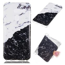Black and White Soft TPU Marble Pattern Phone Case for LG G8 ThinQ (LG G8s ThinQ)