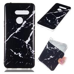 Black Rough white Soft TPU Marble Pattern Phone Case for LG G8 ThinQ (LG G8s ThinQ)