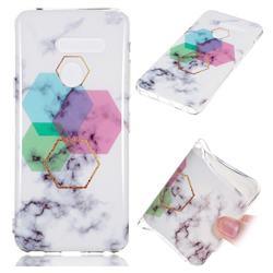 Hexagonal Soft TPU Marble Pattern Phone Case for LG G8 ThinQ (LG G8s ThinQ)