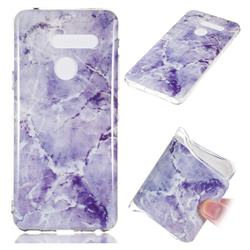Light Gray Soft TPU Marble Pattern Phone Case for LG G8 ThinQ (LG G8s ThinQ)