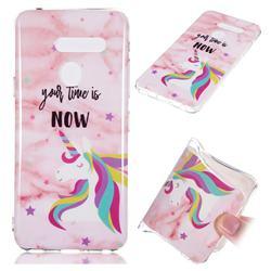 Unicorn Soft TPU Marble Pattern Phone Case for LG G8 ThinQ (LG G8s ThinQ)