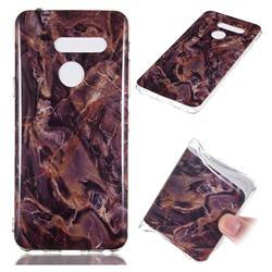 Brown Soft TPU Marble Pattern Phone Case for LG G8 ThinQ (LG G8s ThinQ)