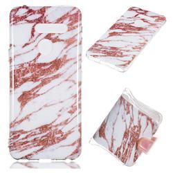 Rose Gold Grain Soft TPU Marble Pattern Phone Case for LG G8 ThinQ (LG G8s ThinQ)