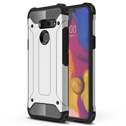 King Kong Armor Premium Shockproof Dual Layer Rugged Hard Cover for LG G8 ThinQ (G8s ThinQ) - White
