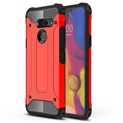 King Kong Armor Premium Shockproof Dual Layer Rugged Hard Cover for LG G8 ThinQ (G8s ThinQ) - Big Red