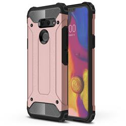 King Kong Armor Premium Shockproof Dual Layer Rugged Hard Cover for LG G8 ThinQ (G8s ThinQ) - Rose Gold
