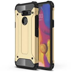 King Kong Armor Premium Shockproof Dual Layer Rugged Hard Cover for LG G8 ThinQ (G8s ThinQ) - Champagne Gold