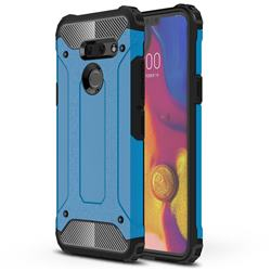 King Kong Armor Premium Shockproof Dual Layer Rugged Hard Cover for LG G8 ThinQ (G8s ThinQ) - Sky Blue