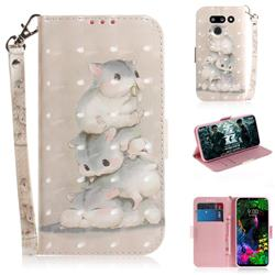 Three Squirrels 3D Painted Leather Wallet Phone Case for LG G8 ThinQ (LG G8s ThinQ)