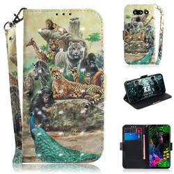 Beast Zoo 3D Painted Leather Wallet Phone Case for LG G8 ThinQ (LG G8s ThinQ)