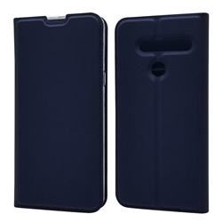Ultra Slim Card Magnetic Automatic Suction Leather Wallet Case for LG G8 ThinQ - Royal Blue