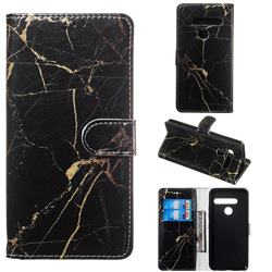 Black Gold Marble PU Leather Wallet Case for LG G8 ThinQ (G8s ThinQ)
