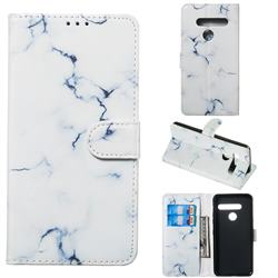 Soft White Marble PU Leather Wallet Case for LG G8 ThinQ (G8s ThinQ)