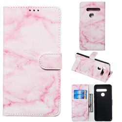 Pink Marble PU Leather Wallet Case for LG G8 ThinQ (G8s ThinQ)