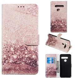 Glittering Rose Gold PU Leather Wallet Case for LG G8 ThinQ (G8s ThinQ)