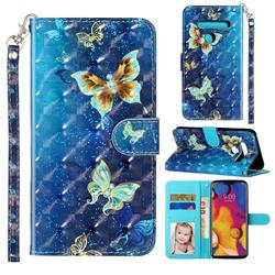 Rankine Butterfly 3D Leather Phone Holster Wallet Case for LG G8 ThinQ (G8s ThinQ)