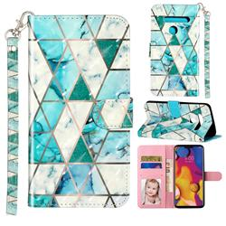 Stitching Marble 3D Leather Phone Holster Wallet Case for LG G8 ThinQ