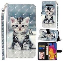 Kitten Cat 3D Leather Phone Holster Wallet Case for LG G8 ThinQ