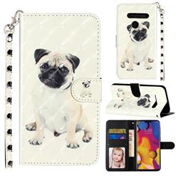 Pug Dog 3D Leather Phone Holster Wallet Case for LG G8 ThinQ