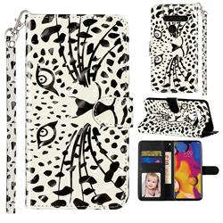 Leopard Panther 3D Leather Phone Holster Wallet Case for LG G8 ThinQ