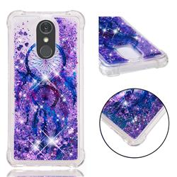 Retro Wind Chimes Dynamic Liquid Glitter Sand Quicksand Star TPU Case for LG Stylo 4