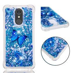 Flower Butterfly Dynamic Liquid Glitter Sand Quicksand Star TPU Case for LG Stylo 4