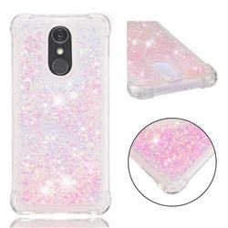 Dynamic Liquid Glitter Sand Quicksand TPU Case for LG Stylo 4 - Silver Powder Star