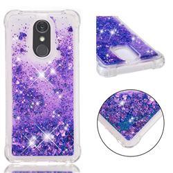 Dynamic Liquid Glitter Sand Quicksand Star TPU Case for LG Stylo 4 - Purple