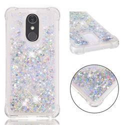 Dynamic Liquid Glitter Sand Quicksand Star TPU Case for LG Stylo 4 - Silver