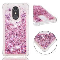Dynamic Liquid Glitter Sand Quicksand Star TPU Case for LG Stylo 4 - Diamond Rose