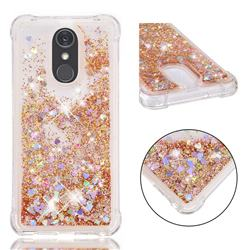 Dynamic Liquid Glitter Sand Quicksand Star TPU Case for LG Stylo 4 - Diamond Gold
