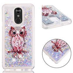Seashell Owl Dynamic Liquid Glitter Quicksand Soft TPU Case for LG Stylo 4