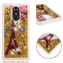 Golden Tower Dynamic Liquid Glitter Quicksand Soft TPU Case for LG Stylo 4