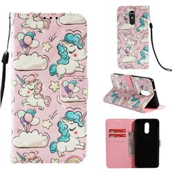 Angel Pony 3D Painted Leather Wallet Case for LG Stylo 4