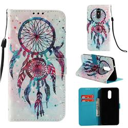 ColorDrops Wind Chimes 3D Painted Leather Wallet Case for LG Stylo 4